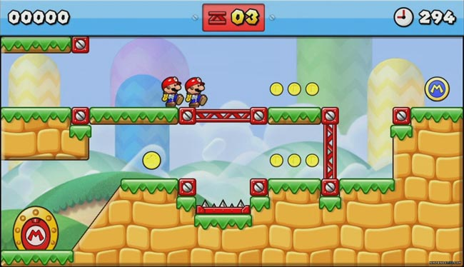 Descargar Mario vs Donkey Kong Tipping Stars CIA 3DS USA